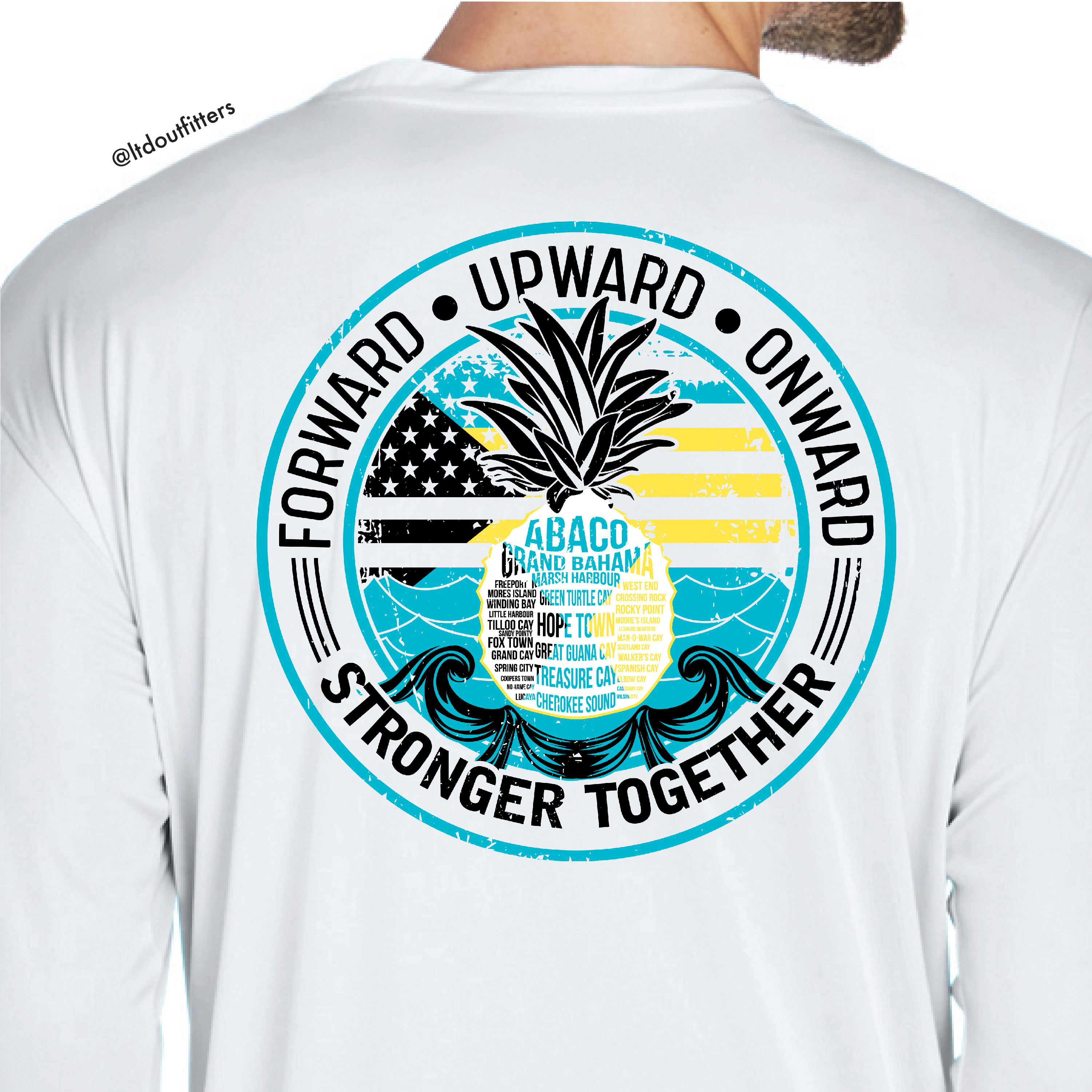 "Pineapple ""Stronger Together"" Bahamas Relief Shirt"